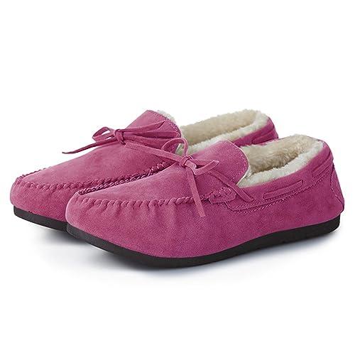 001563f51f Summer Mae Donna Mocassino Classico Pantofole in Pelliccia: Amazon ...