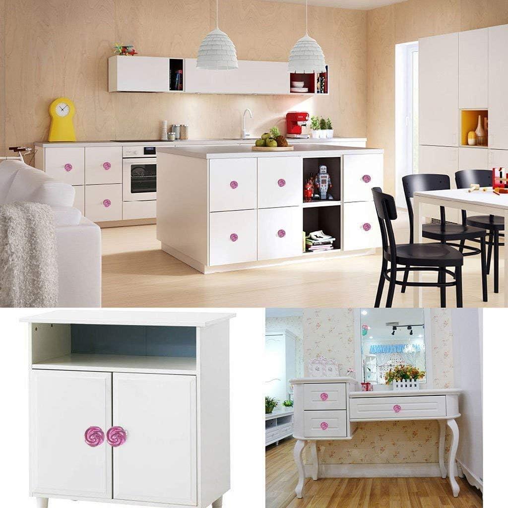 AWJ 8Pcs 30mm Creative Rose Crystal Cabinet Dresser Drawer Pull Handle Decorative Drawer Door Knob