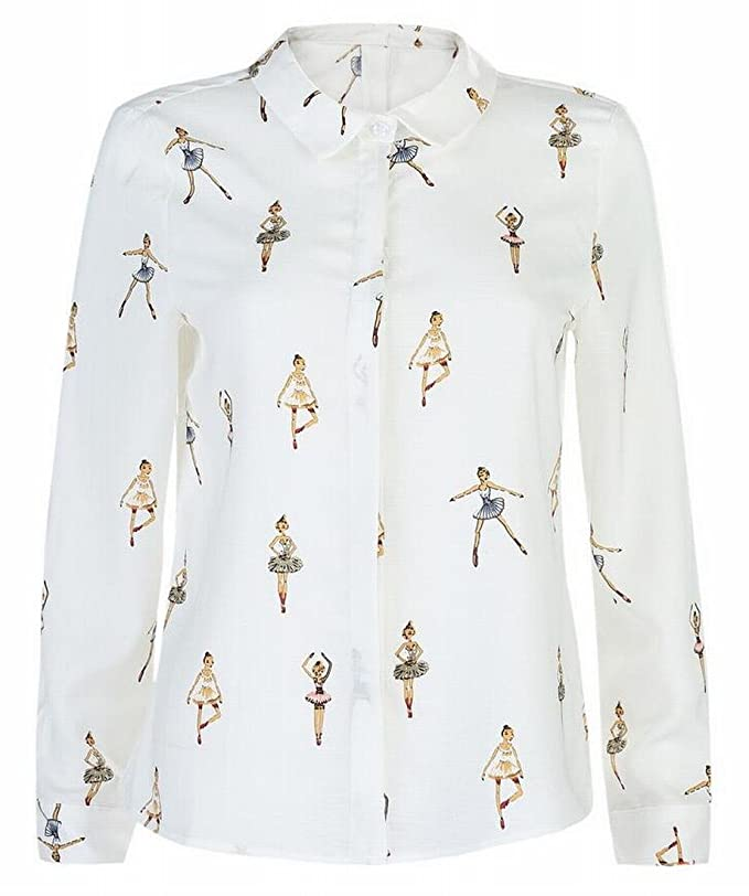 2a160f97863be9 Jmwss QD Women s Chiffon Long Sleeve Blouse Shirt Business Casual Tops at  Amazon Women s Clothing store
