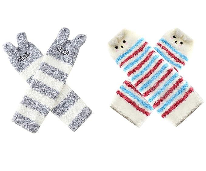 e68f8b9a1488 Baby Boy Girls Soft Fuzzy Leg Warmer Toddler Kids Cute Knee Pad Boot Sock 2  Pack