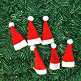 VIPASNAM-6pcs Mini Lint Santa Claus Hat Christmas Xmas Holiday Lollipop Top Topper Decor