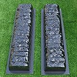 2pcs EDGE STONE CONCRETE MOLDS Log Edging Border Mould ABS Plastic Concrete#BR05 Review