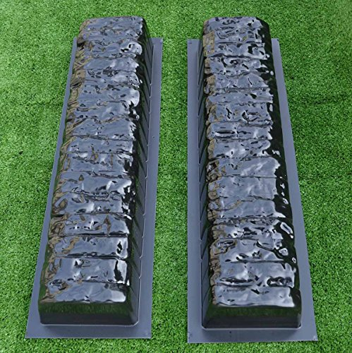 2pcs EDGE STONE CONCRETE MOLDS Log Edging Border Mould ABS Plastic Concrete#BR05 -