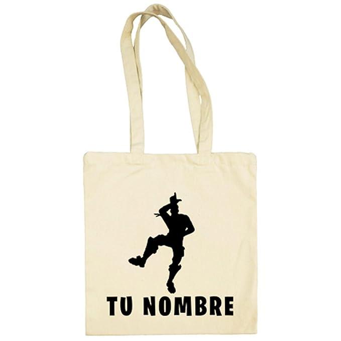 Diver Camisetas Bolsa de tela Fortnite pose Take The L baile Loser personalizable con nombre - Beige, 38 x 42 cm: Amazon.es: Ropa y accesorios