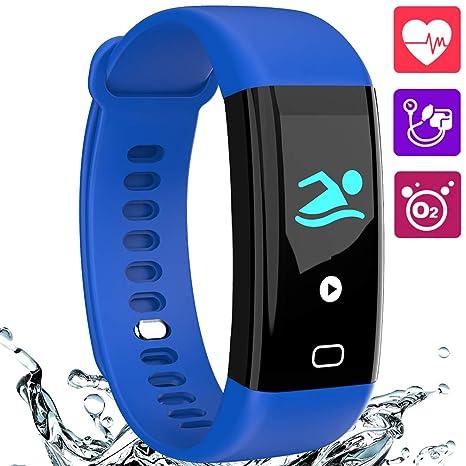 LogHog Smart Bracelet Fitness Tracker ECG Heart Rate/Blood Pressure Monitor,Waterproof Activity Tracker