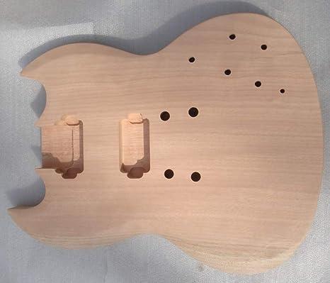 Hermoso cuerpo de guitarra eléctrica sin acabado, cuerpo de ...