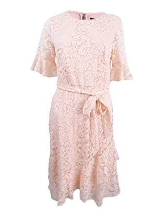 Dkny Womens Lace Elbow Sleeves Cocktail Dress At Amazon