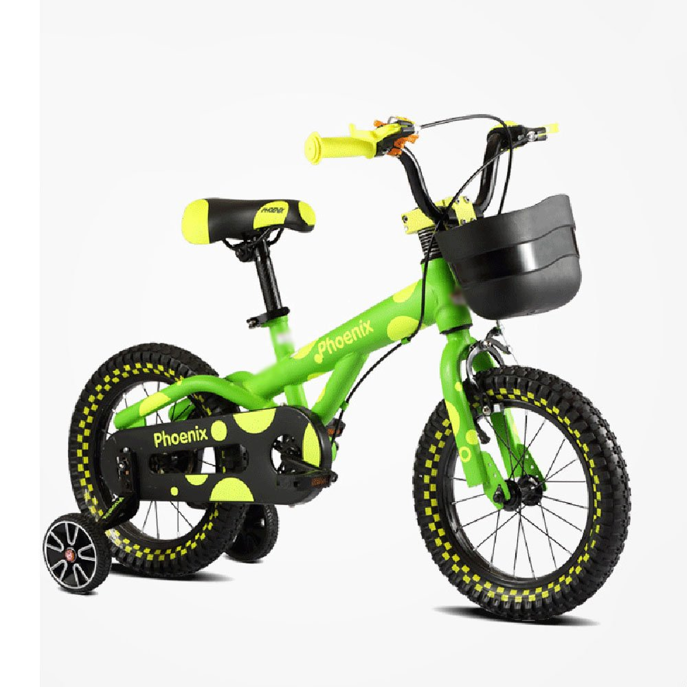 HAIZHEN マウンテンバイク 子供用自転車 グリーンイエローオレンジ サイズ12インチ、14インチ、16インチ アウトドアアウト 新生児 B07C6VPNFS 12 inch|緑 緑 12 inch