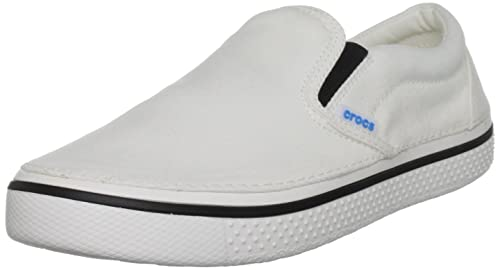 d868d3a00 crocs Men s Hover Slip-On Sneaker Shoe White White 9 D(M) US  Buy ...