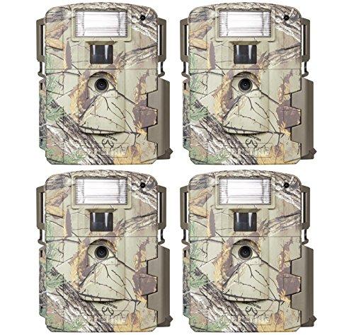 (4) Moultrie Xenon Strobe White Flash D-80 Mini 14MP Digital Trail Game Cameras (Xenon Flash)