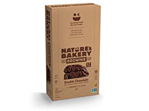 NATURES BAKERY BROWNIE DOUBLE CHOCOLATE 12CT, 2 OZ