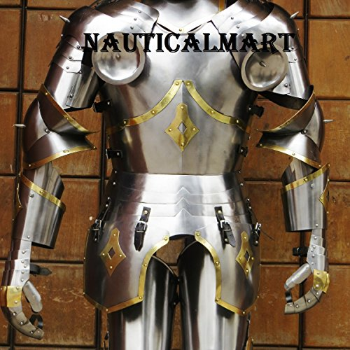Medieval Knight Gothic Full Suit of Armor 15th Century Body Armour by NAUTICALMART (Image #3)