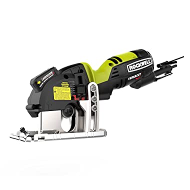 Rockwell RK3440K Versacut 4.0 Amp Ultra-Compact Circular Saw with Laser Guide and 3-Blade Kit with Carry Case