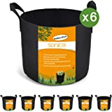 Sonice Set of 6 Pack 3 Gallons Grow Bags by, Aeration Fabric Pots With Handles