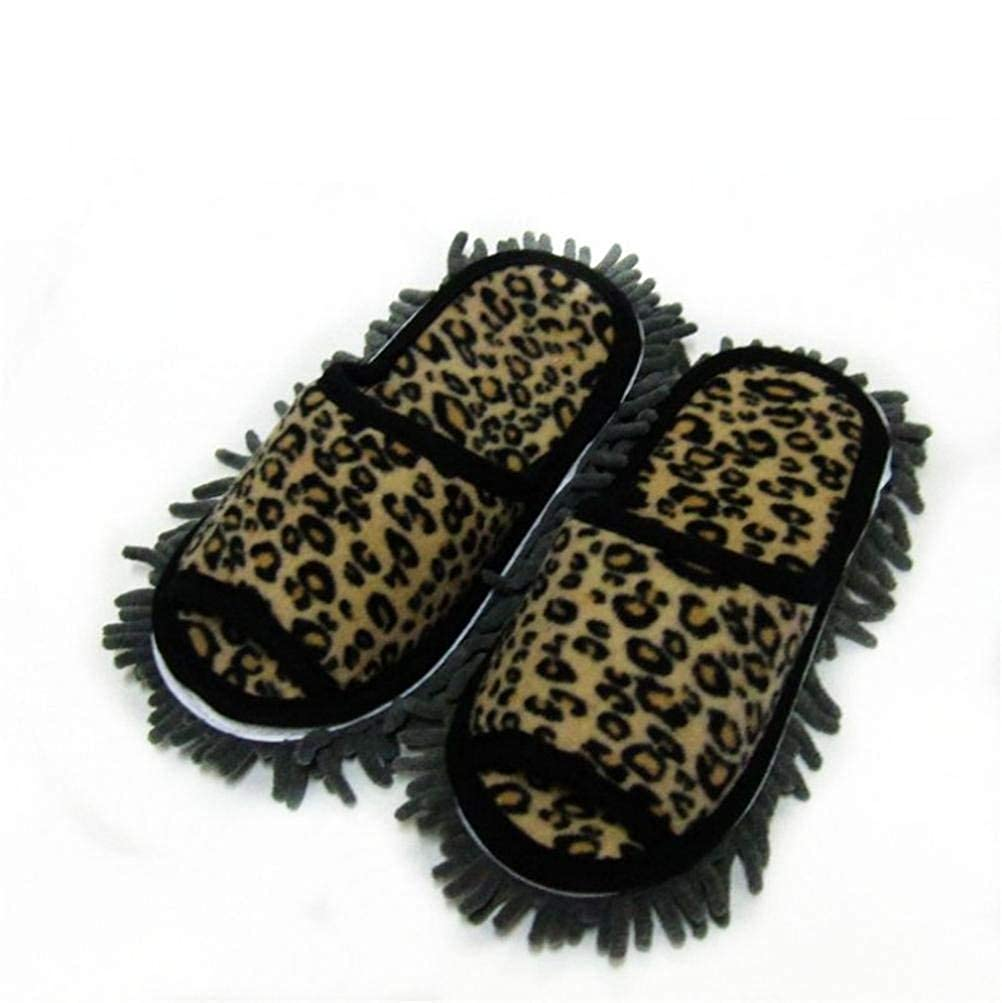 Leopard print JaHGDU Ladies Fall Winter Home Cotton Slippers Leopard Washable Leopard Print Stylish Female Casual Breathable Loafers Slippers