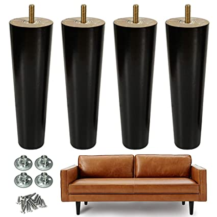 Amazon.com: AORYVIC 8 inch Wood Furniture Legs Replacement ...
