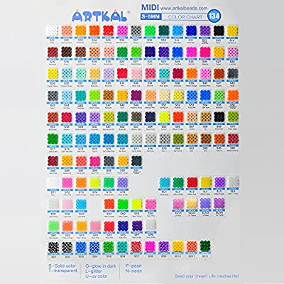 ARTKAL Beads 1000 Count Emerald S08 Pixel Arts Fuse Beads: Toys & Games