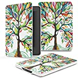 e-Life Kindle Case for Kindle All-New Paperwhite Thinnest and Lightest PU Leather Cover with Auto Wake/Sleep for Amazon Kindle, Lucky Tree