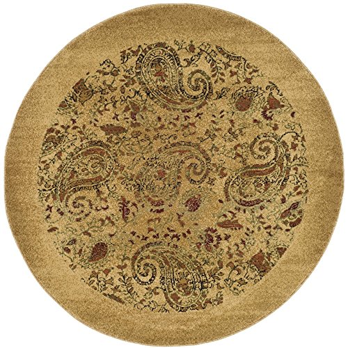 Safavieh Lyndhurst Collection LNH224A Traditional Paisley Beige and Multi Round Area Rug (5'3