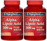 Alpha Lipoic Acid 300 mg plus Biotin Optimizer, Quick Release 360 Capsules