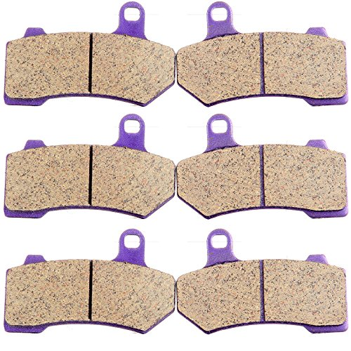 Carbon Fiber Brake Pads ECCPP Motorcycle Replacement Front and Rear Braking Pads Kits Set for 2008-2014 Harley Davidson FLHTCU Ultra Classic Electra Glide ()
