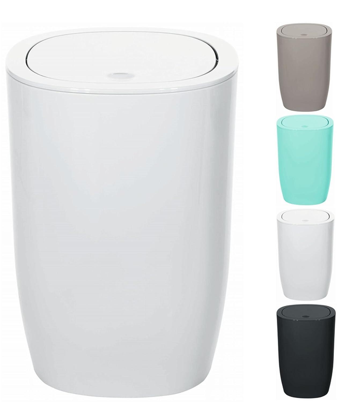 Spirella Waste Bin Bathroom Accessories, Polystyrene, 25 x 17 x 17 ...