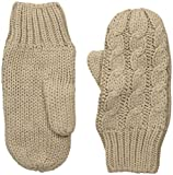 LOLE Women's Cable Mittens, Feather Grey, One Size