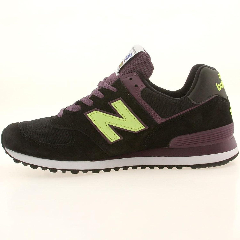 Amazon.com | New Balance Men US574BG - Made In USA (black / green) |  Fashion Sneakers