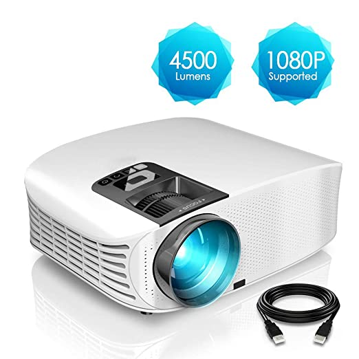 AI LIFE Proyector HD Proyector de Video Full HD 1080p LCD con 4500 ...