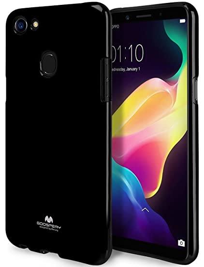 finest selection 89f8d f633f GOOSPERY Marlang Marlang Oppo F5 Case - Black, Free Screen Protector [Slim  Fit] TPU Case [Flexible] Pearl Jelly [Protection] Bumper Cover for Oppo F5,  ...