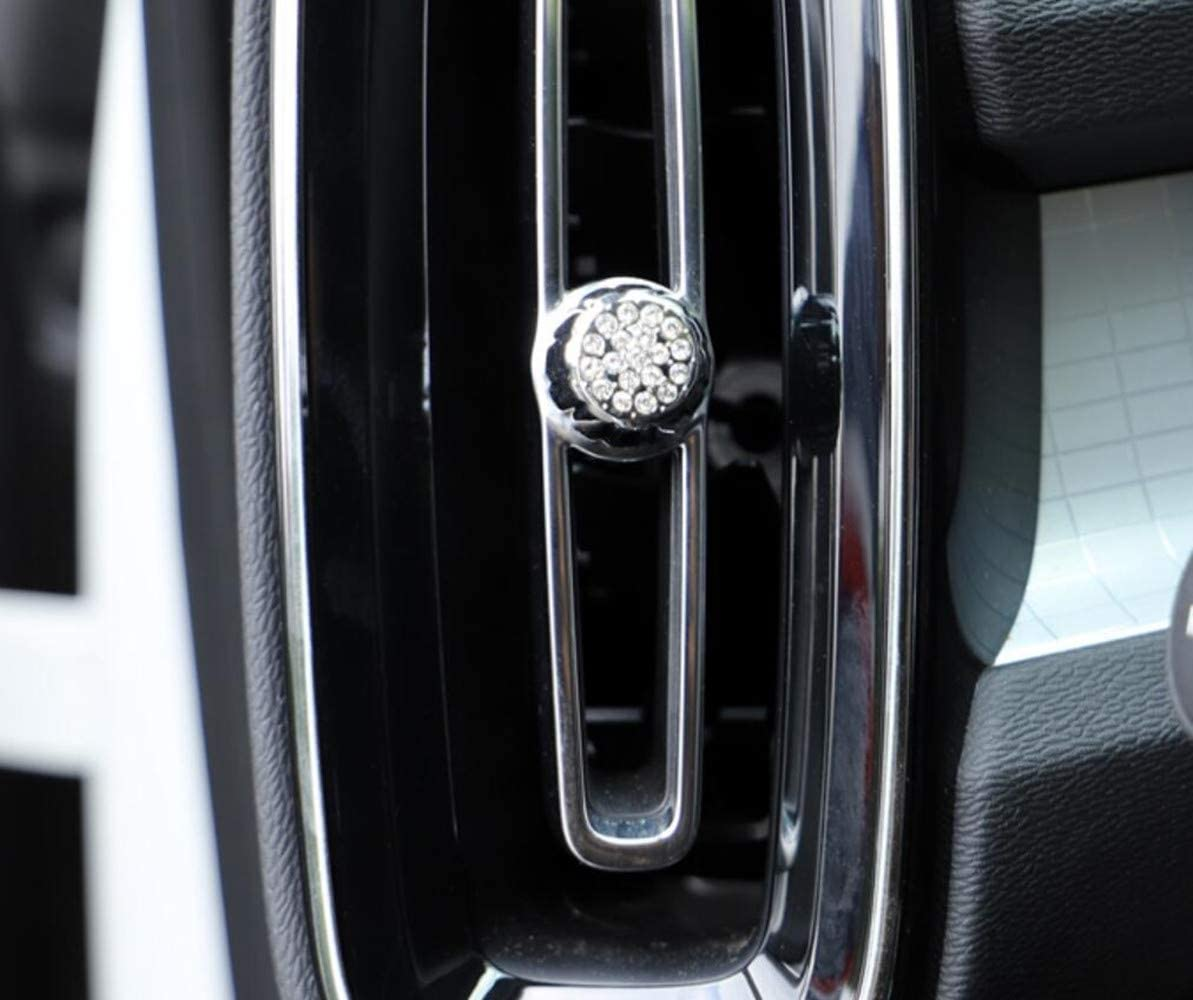 Audio Sound knob Sticker 1pc YUWATON Fit for Volvo Bling Accessories XC60 S60 V60 XC40 XC90 S90 V90 2018-2020 Car Interior Bling Accessories