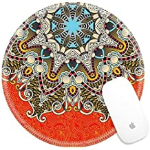 Luxlady Round Gaming Mousepad 32289178 floral round pattern in ukrainian oriental ethnic style for your greeting card or invitation template design for card vintage lace doily vector illustr