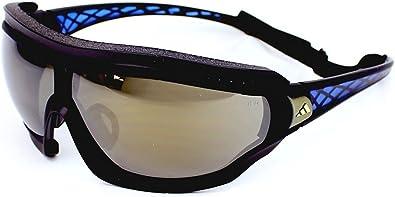 Decoración apasionado cristal  Amazon.com: adidas Tycane Pro Outdoor L Rectangular Sunglasses, Black Matte  & Blue, 82 mm: Shoes
