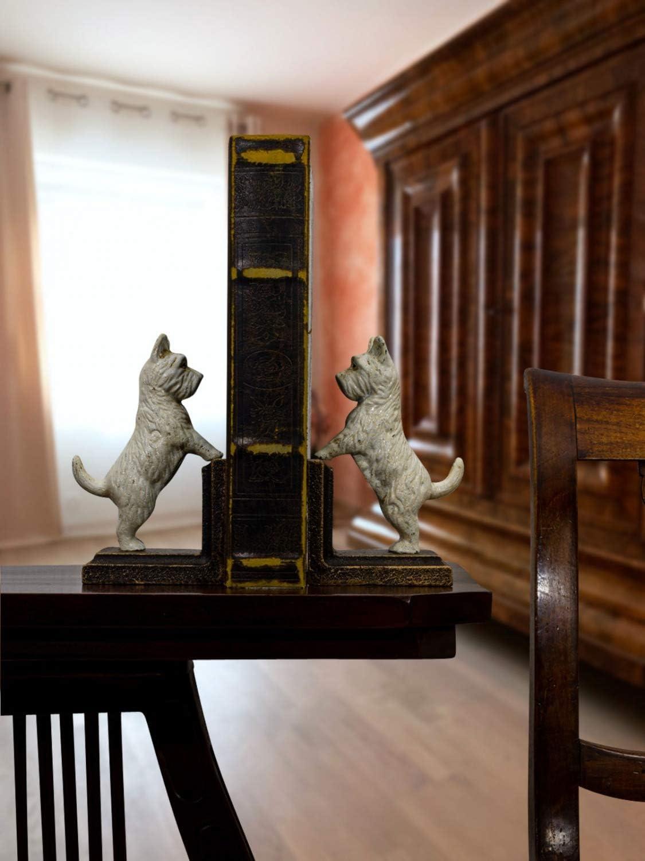 aubaho 2 Buchst/ützen Buchst/änder Spitz Terrier Schnauzer Hund Figur Eisen 15cm b