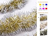 Product Description Note: The color of the item may vary slightly due to photography and your own computer Beautiful and Glittering Perfect for your Christmas tree decoration, wedding decoration, nursery activities arranged. Material: Tinsel ...