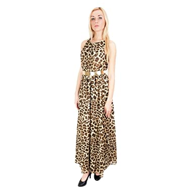 John Zack ASOS Maxi Dress Leopard Print - Multicolour - 36/UK 10/EU