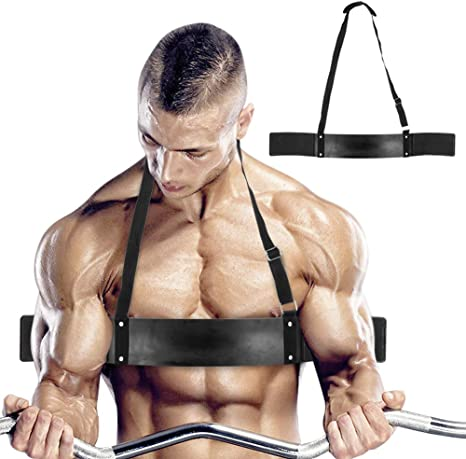 Bicep Isolator Arm Blaster Weight Lifting Bomber Curl  Bar Tricep Gym Workout