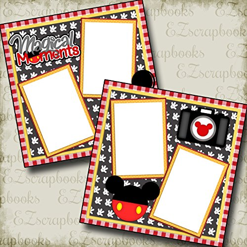 2 12x12 Premade Scrapbook Pages - 3