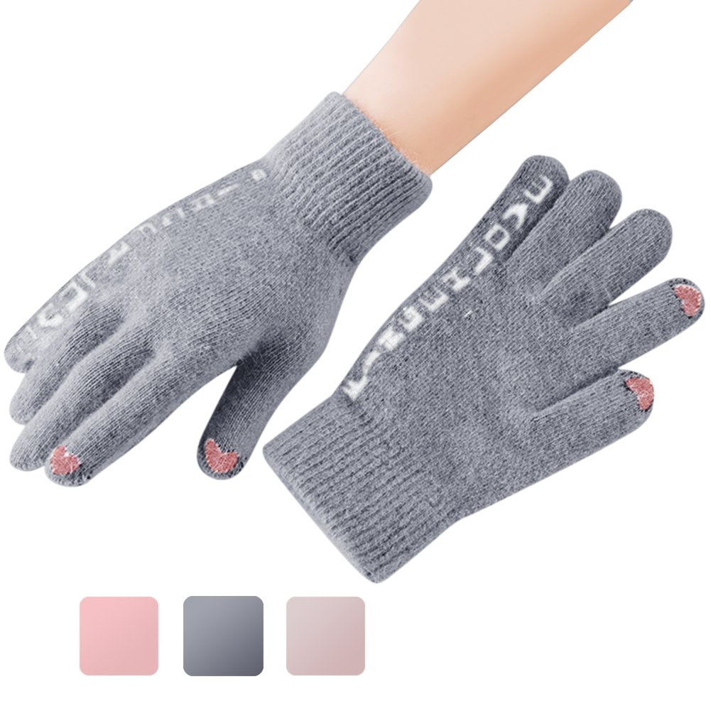 Women's Touchscreen Gloves, Ulstar Women Cold Weather Winter Windproof Gloves