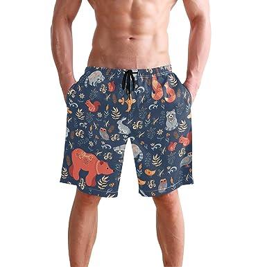 Amazon.com: Bañador para hombre, diseño de oso de zorro ...