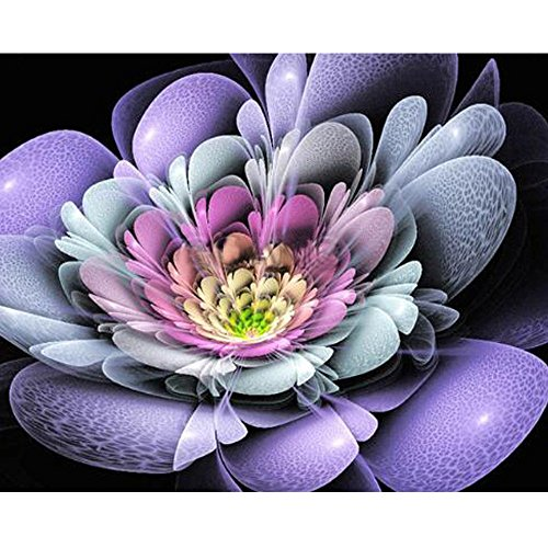 Clearance! DIY 5D Rhinestone Embroidery Paintings - Iuhan Flower Diamond Paintings Cross Stitch - Rhinestone Pasted Crystals Embroidery - Home Decor Craft (D)