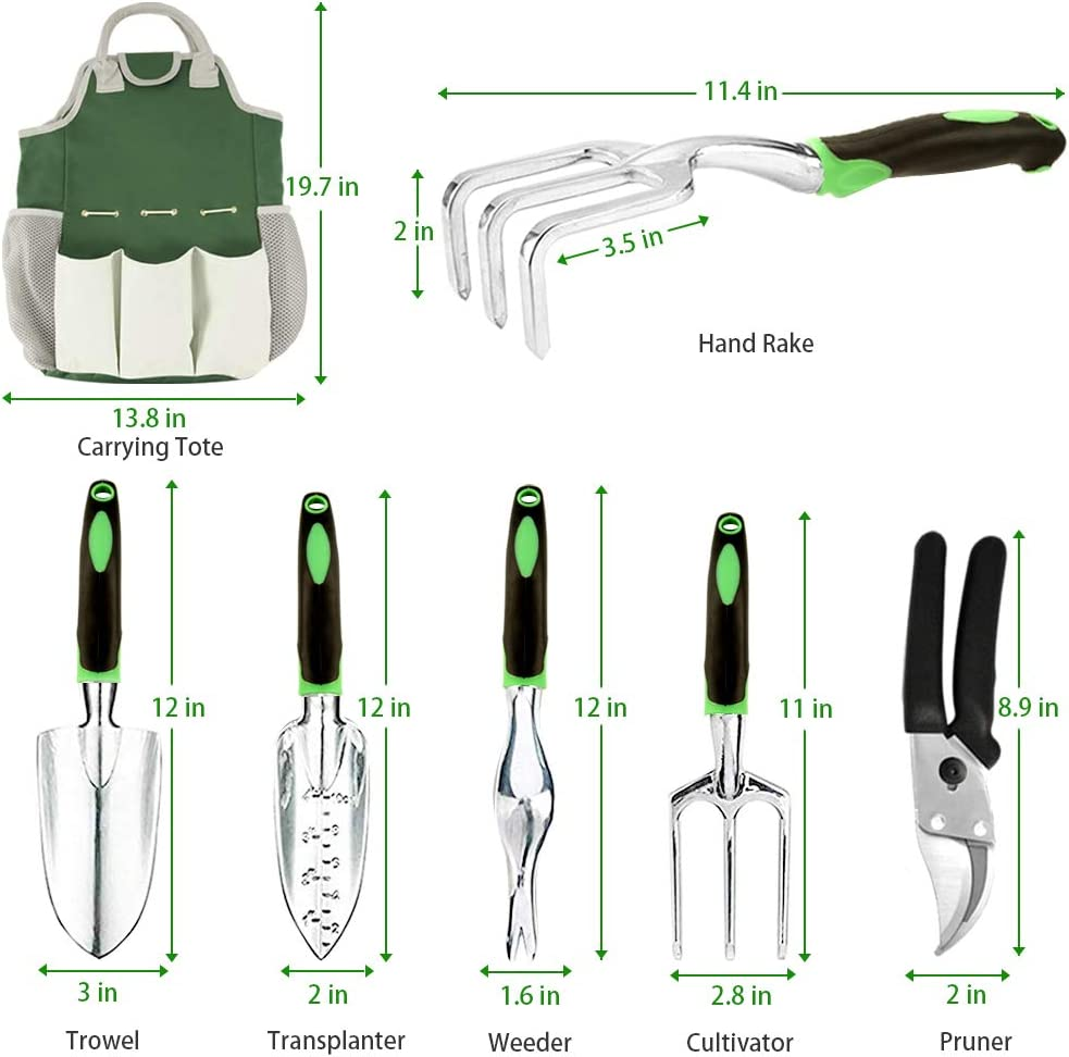 AOKIWO 51 PCS Garden Tools Set Succulent Tools Set Heavy Duty Aluminum Manual Garden kit Outdoor Gardening Gifts Tools for Men Women : Garden & Outdoor