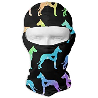 Great Dane Heart Love Balaclava UV Protection Windproof Ski Face Masks for Cycling Outdoor Sports Full Face Mask Breathable