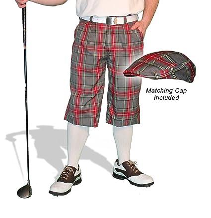 8d145590be3 Amazon.com   Golf Knickers Plaid and Cap  Mens  Par 5  - Highland ...
