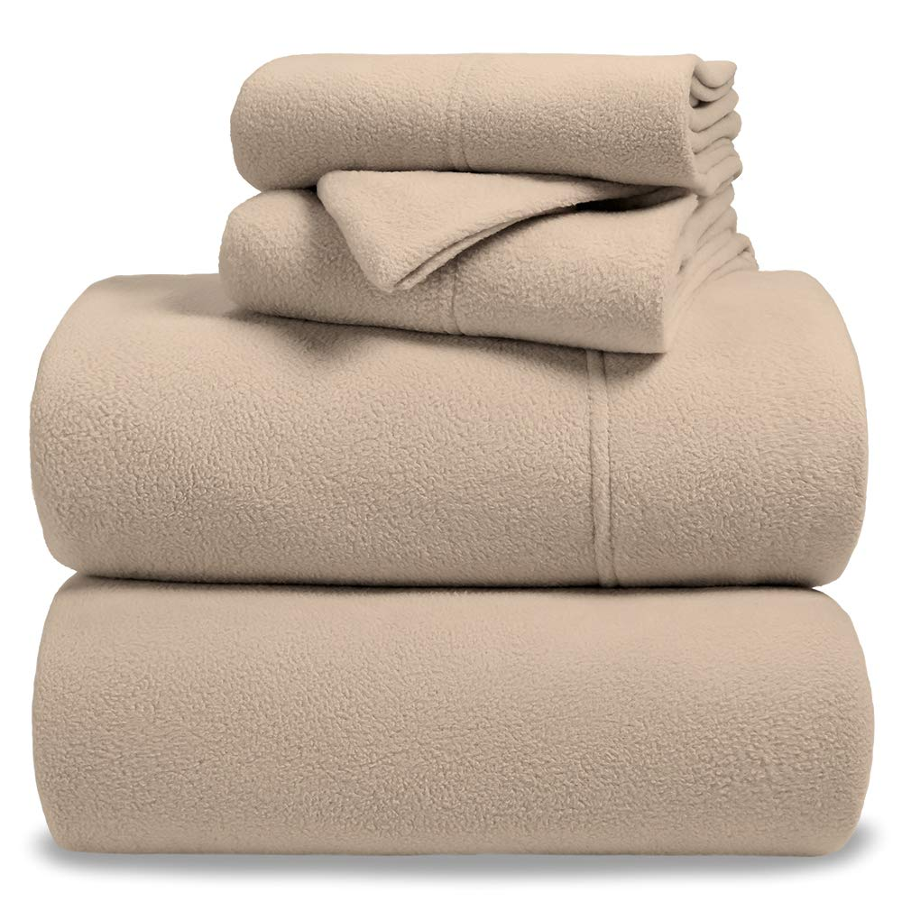 Bare Home Fleece Super Soft Premium Sheet Set - Extra Plush Pill-Resistant All Season Cozy Breathable Hypoallergenic (Twin, Red) MF-643665956543