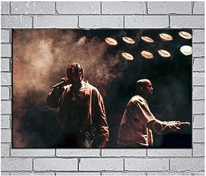 Lanruru Kanye West Life Of Pablo Rap Hip Hop lienzo pintura arte carteles impresos para la pared del hogar decoración de la sala de estar -60x80 CM sin marco 1 Uds