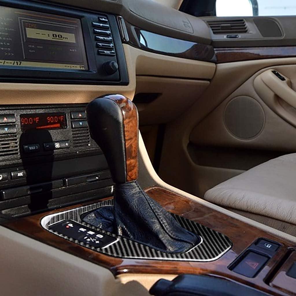 Black Carbon Fiber Gear Shift Box Frame Trim Cover for BMW E39 LHD Accessories