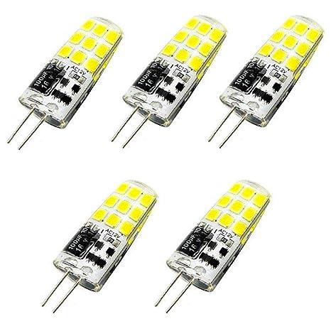 Bonlux 3W 12V G4 Bombilla LED, Base Bi-Pin, Equivalente a 20-