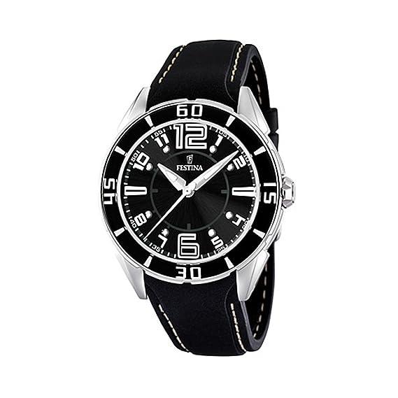 FESTINA F16492/6 - Reloj de Mujer de Cuarzo, Correa de plástico Color Negro: Festina: Amazon.es: Relojes