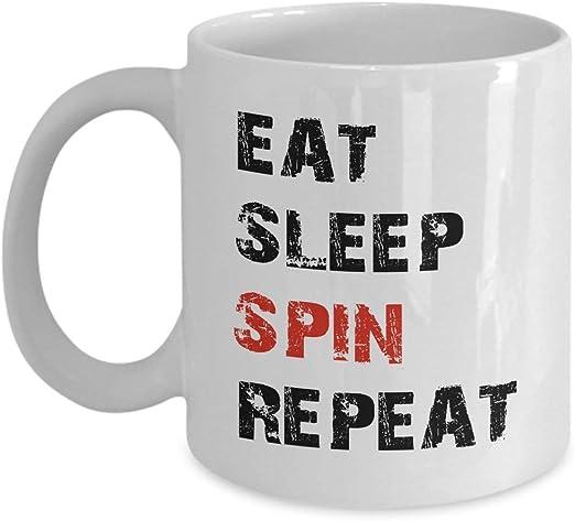 19322 Taza de café 11 oz Ciclismo Coma Dormir Giro Repetir ...